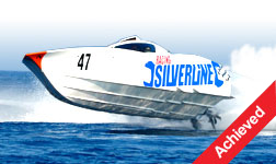 The silverline racing speed boat